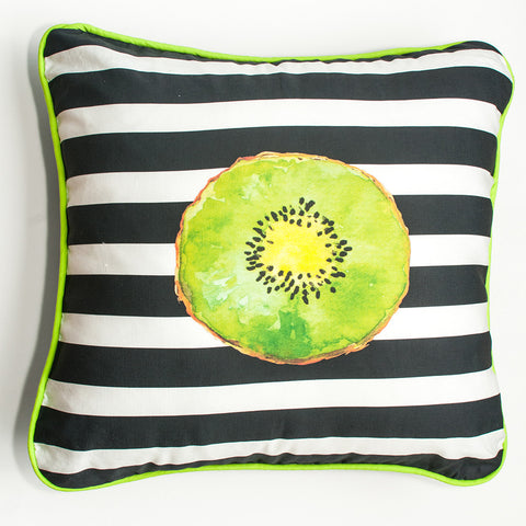 Rad Kiwi Stripe Throw Pillow