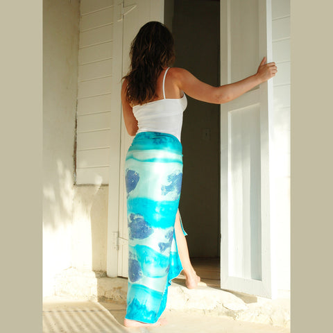 Silk Sarong - Original - Blue Fish