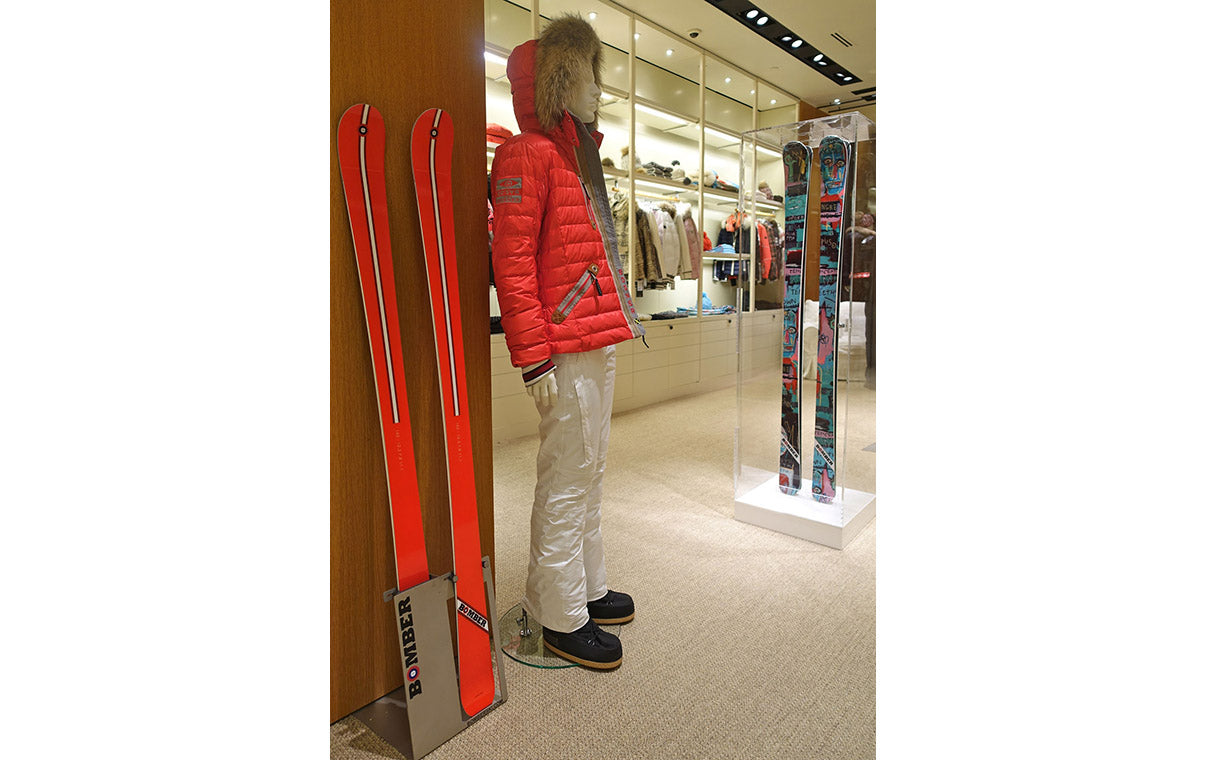 Bomber Ski Red Barron Alpine All Mountain Ski with Bogner Ski Jacket, Americana Manhasset