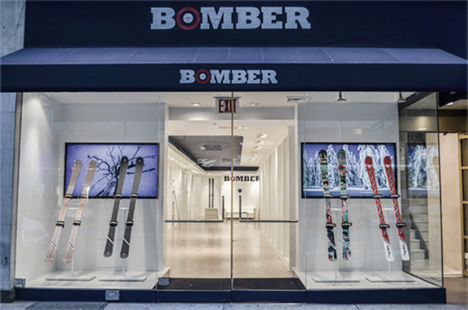 bomber ski pop up store madison avenue new york
