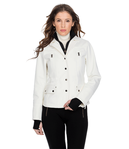 Merchandise - Women's White Bomber Alpine Ski Jacket