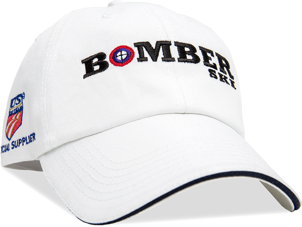 Bomber Hat | White with Brim Detail