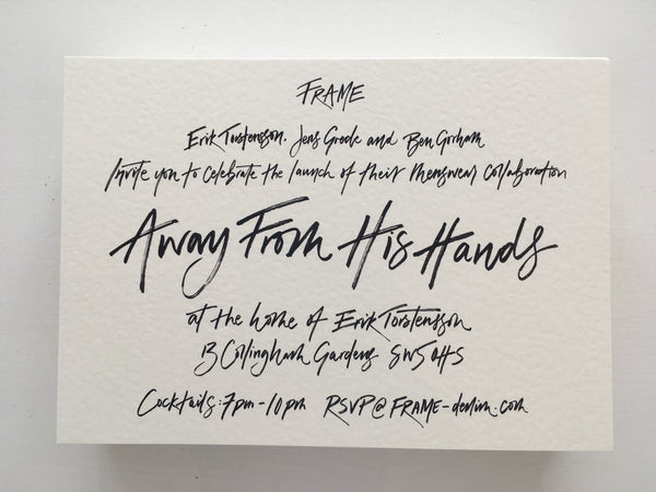 London Calligraphy Studio | Wedding & Events | Hand-lettered & Brush lettering Invitations