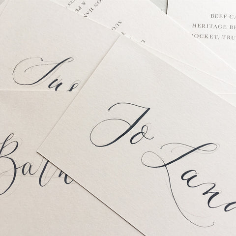 London Calligraphy Studio | Weddings & Events Calligraphy