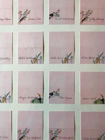 De Gournay Place Cards Calligraphy Studio Quill London