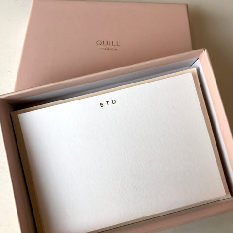 Personalised Monogrammed Correspondene Cards and Stationery Quill London