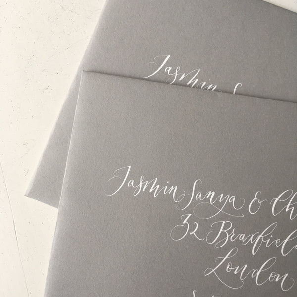 London Calligraphy Studio | Wedding & Event Calligraphy Invitation & Envelopes