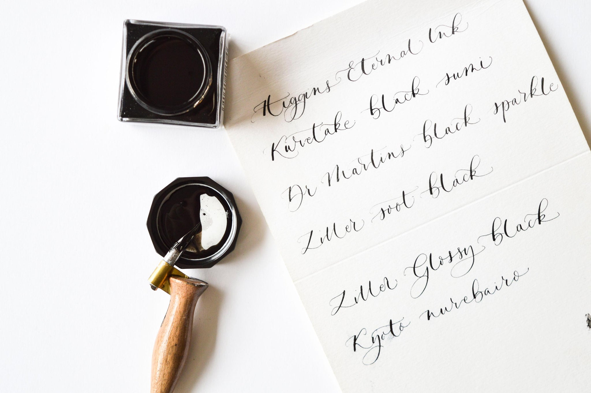 Quill London | Modern Calligraphy Blog | Resources, Tips & Tricks | Difference Between Black & White Inks