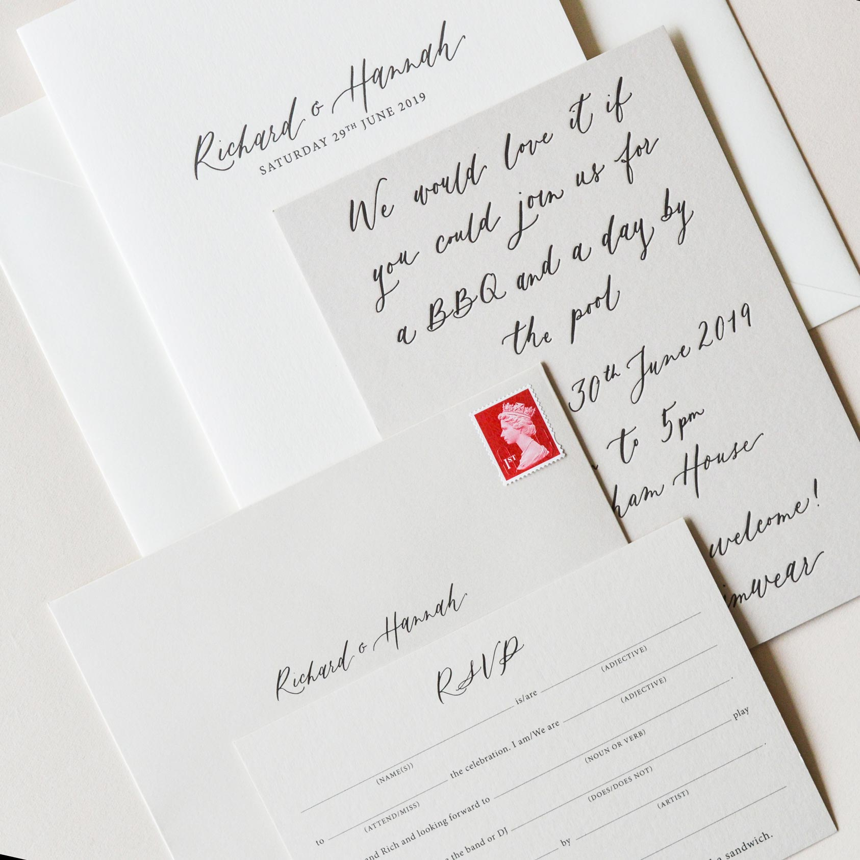 Quill London | Inspiration From Our Studio | Calligraphy Detailing & Invitation Design // Liz Linkleter Studio