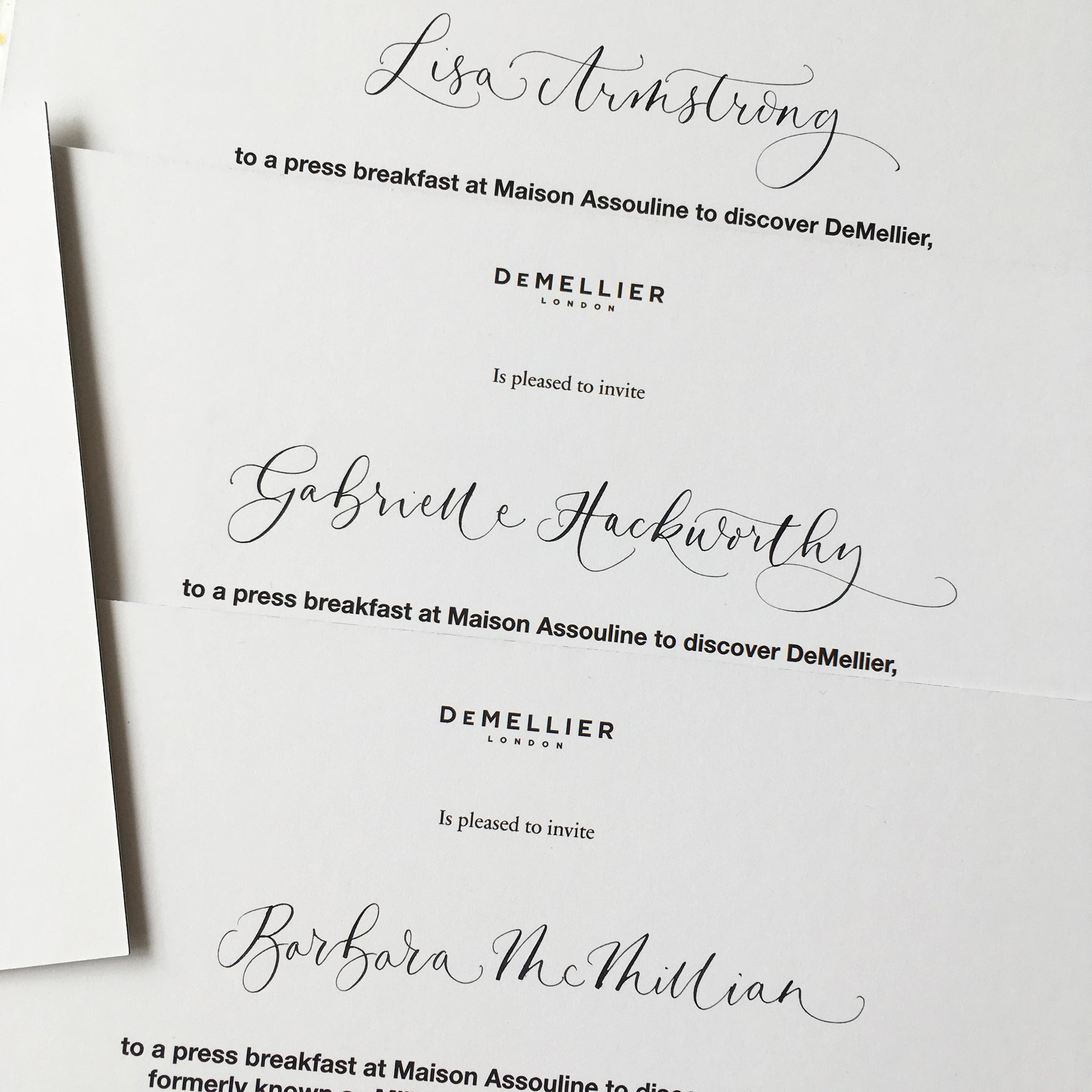 Quill London | Inspiration Fro Our Studio Page | Invitation and envelope addressing // Demellier
