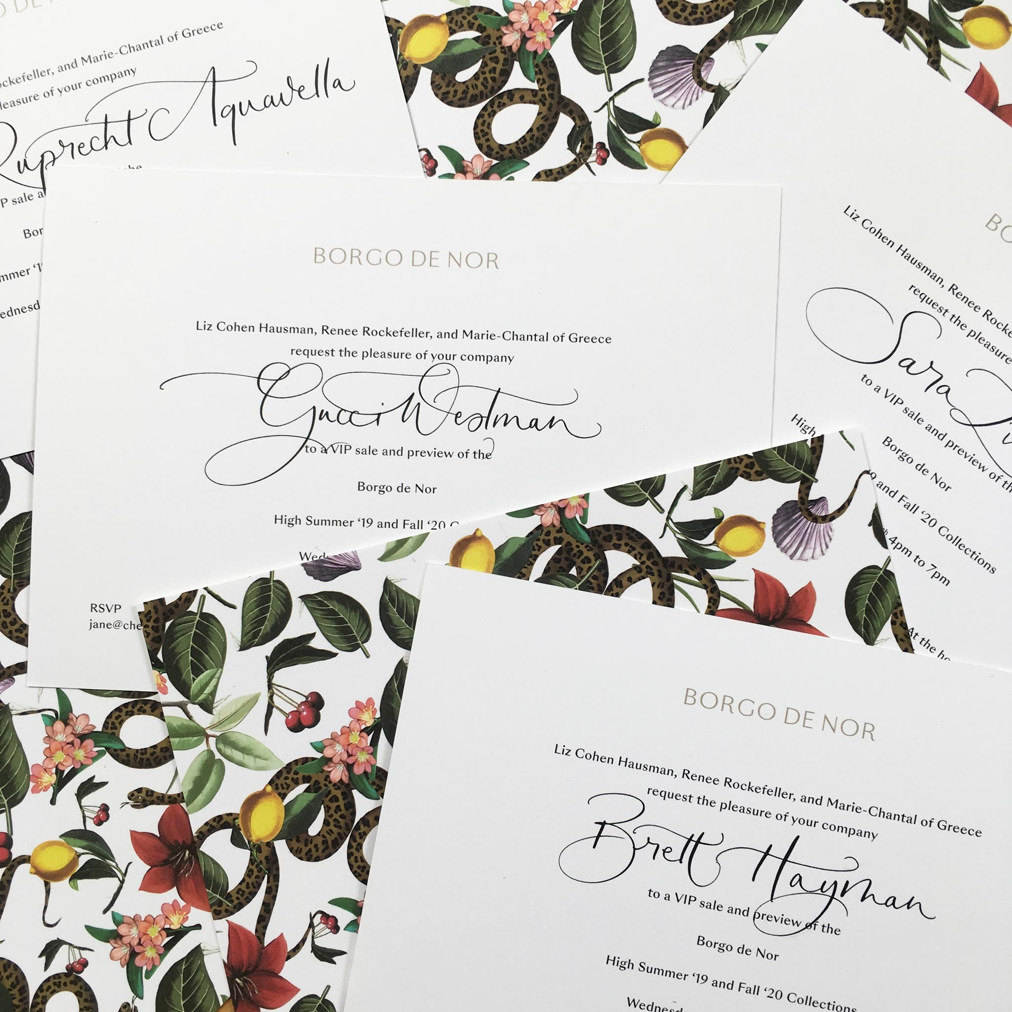 Quill London | Inspiration From Our Studio Page | Invitation lettering and design // Borgo de Nor