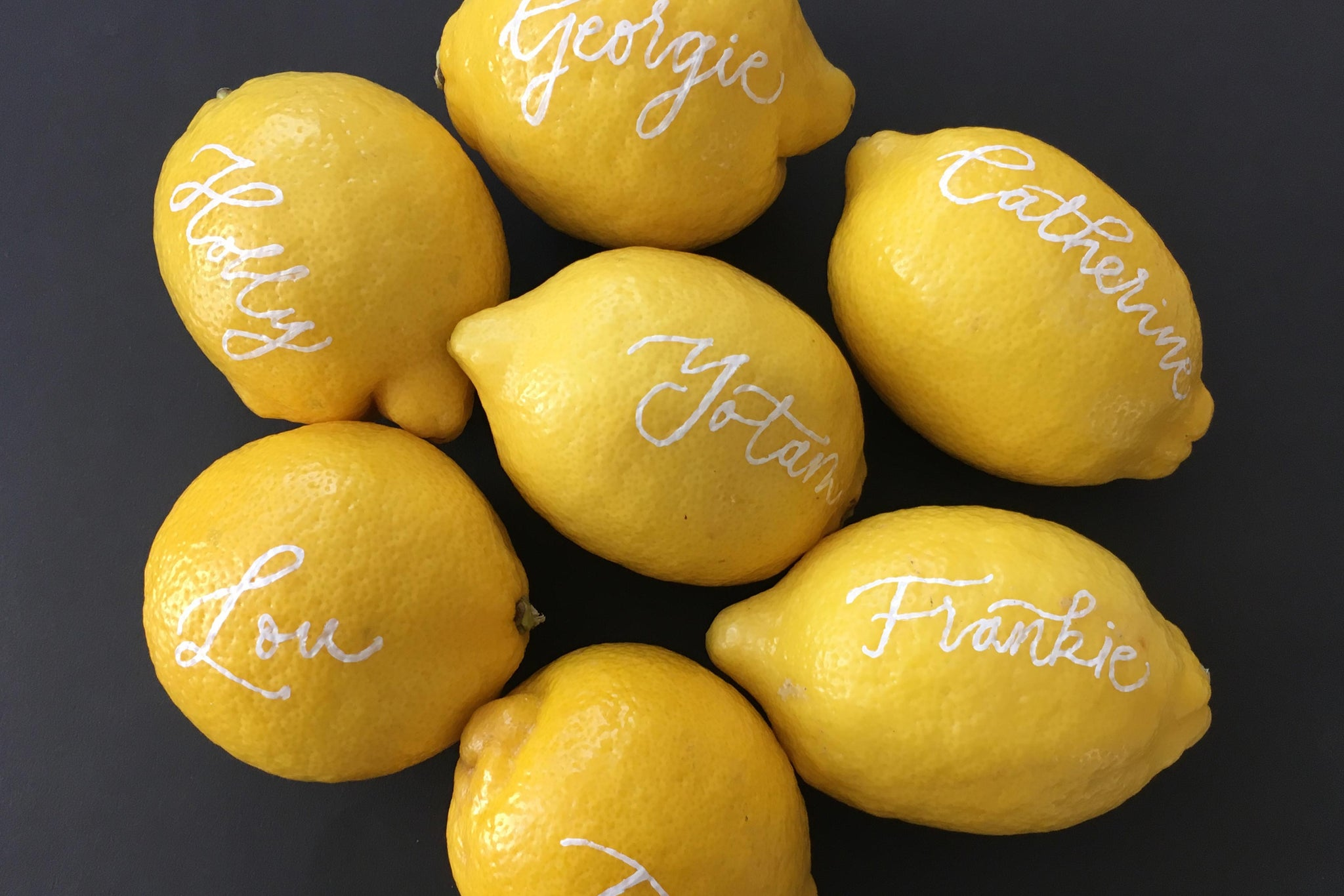 Quill London | Inspiration From Our Studio | Lemon Placement // Ottolenghi