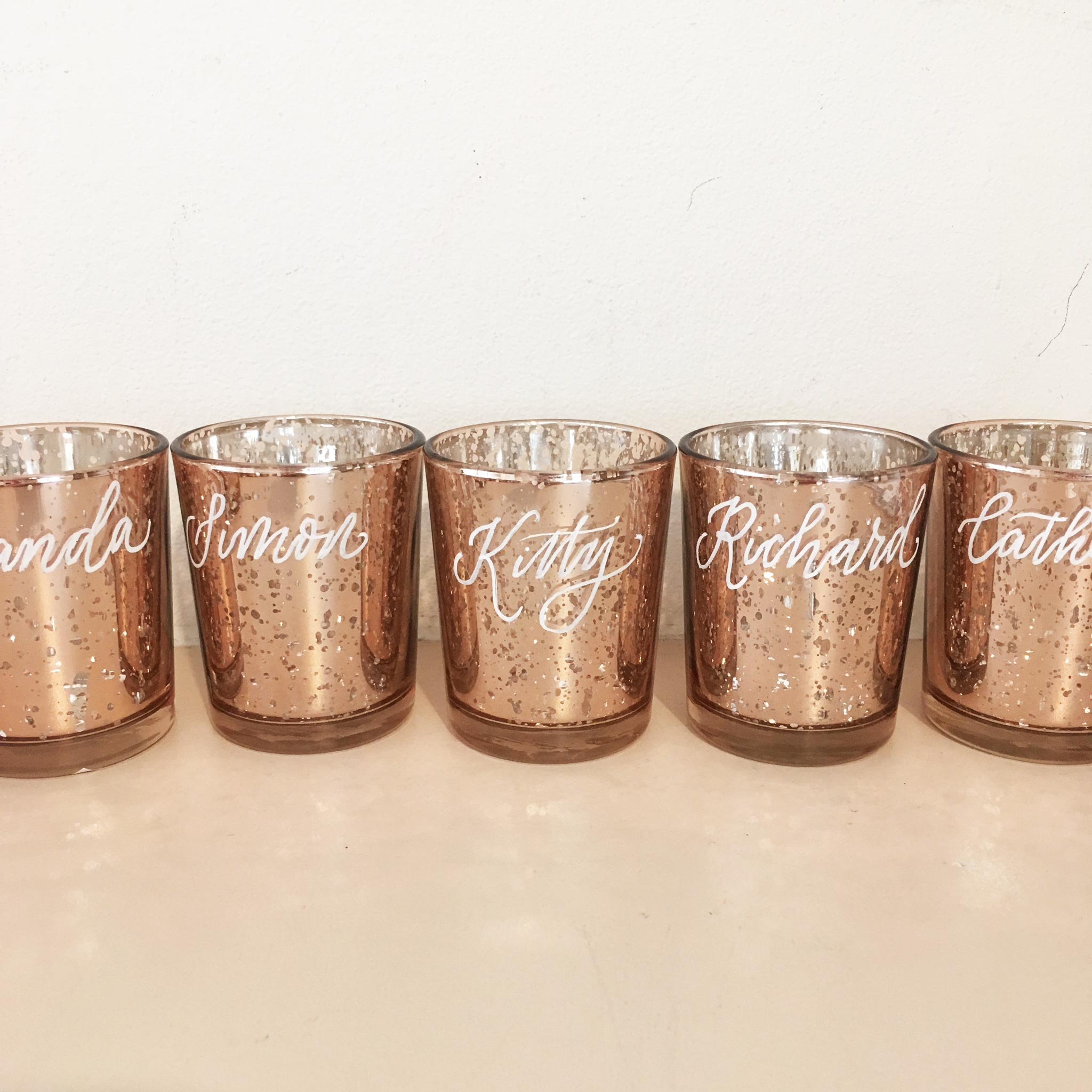 Quill London | Inspiration From Our Studio | Personalised Votive Candle Jars // Private client