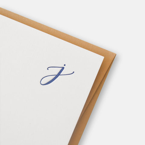 Quill London Stationery Letterpress Notecard Set Monogram