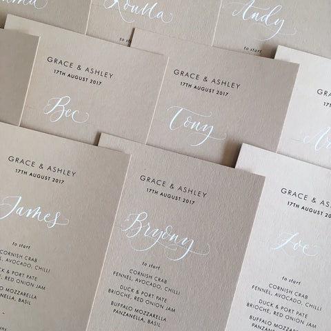 On The Day - Handwritten Touches - Modern Calligraphy - Menus