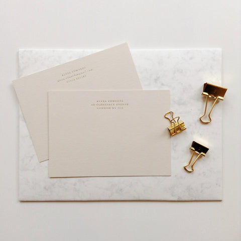 Personalised Correspondence Cards Quill London Paper Anniversary Gifts