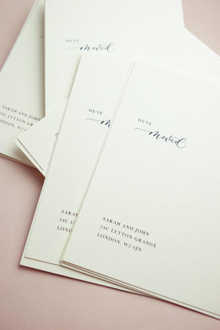Quill London Personalised Announcement Card New Home Stationery