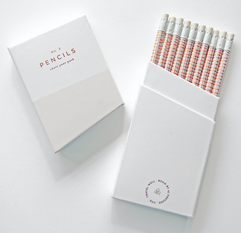 42 Pressed Pencil Set Stationery Gifts Quill London