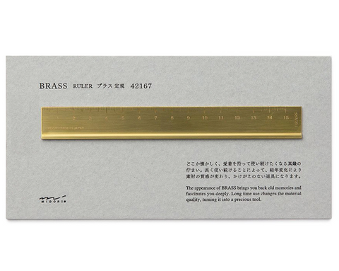 Midori Brass Ruler Quill London Stationery Gifts
