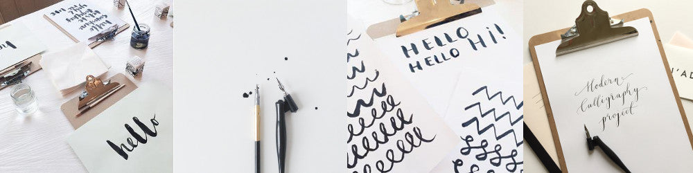 Modern calligraphy classes in london quill