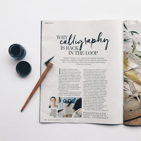 You Magazine Modern Calligraphy Quill London