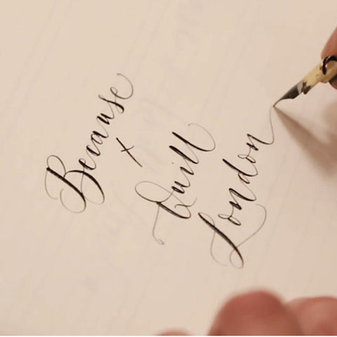 Quill London Because Magazine Modern Calligraphy Workshop