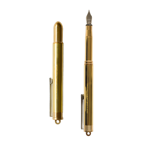 Brass Fountain Pen Midori Quill London Stationery Father's Day Gift Idea
