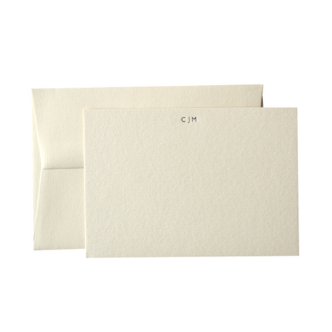 Monogrammed Personalised Correspondence Cards Stationery By Quill London Father's Day