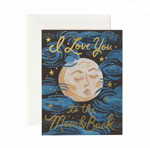 I Love You To The Moon And Back Rifle Card Paper Anniversary Gifts Quill London