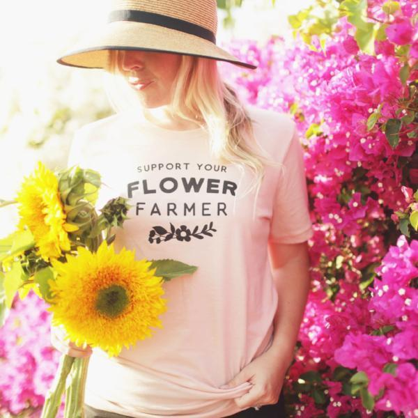 Nature Supply Co - Flower Farmer Adult Tee - Cream