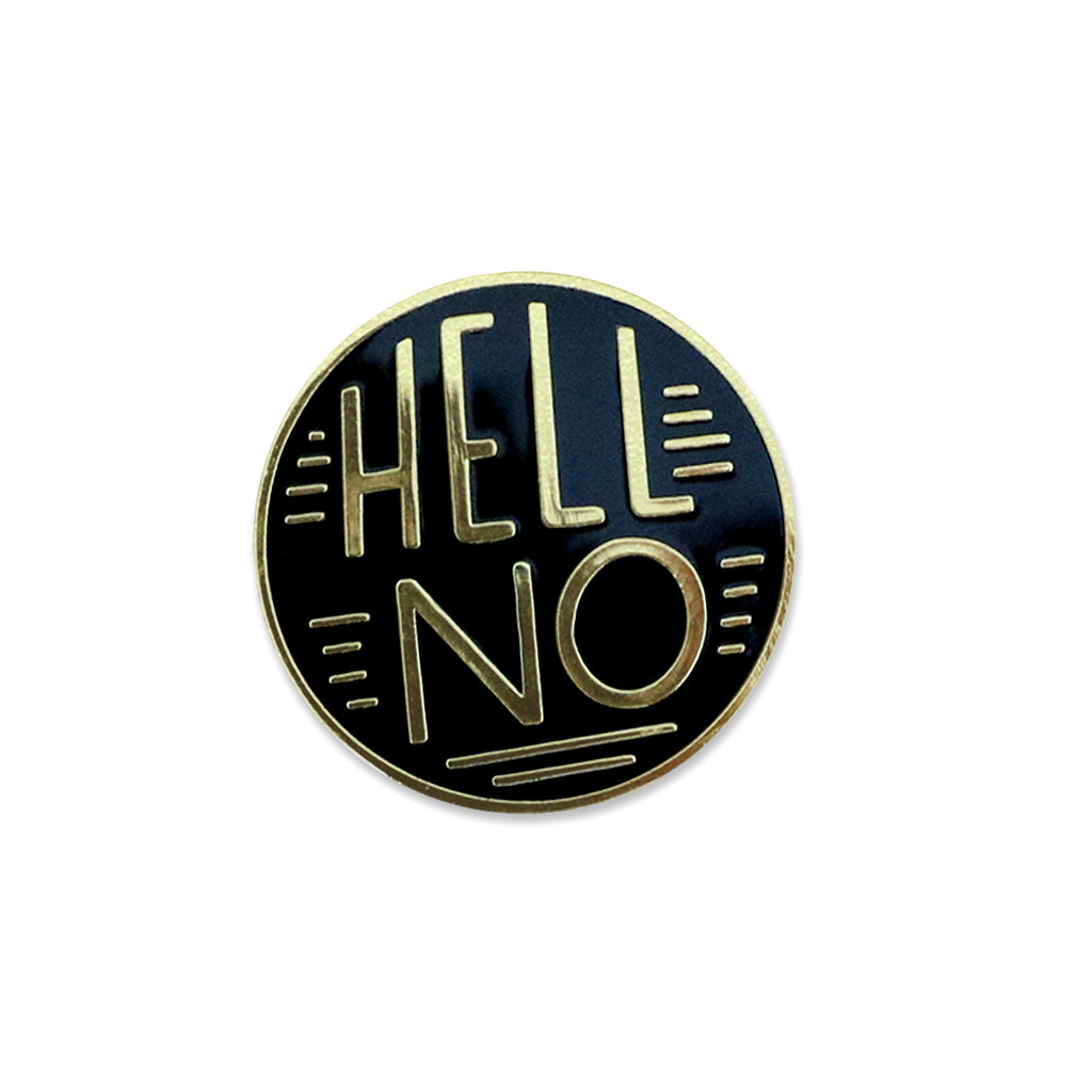 Paper Parasol Press - Hell No Lapel Pin