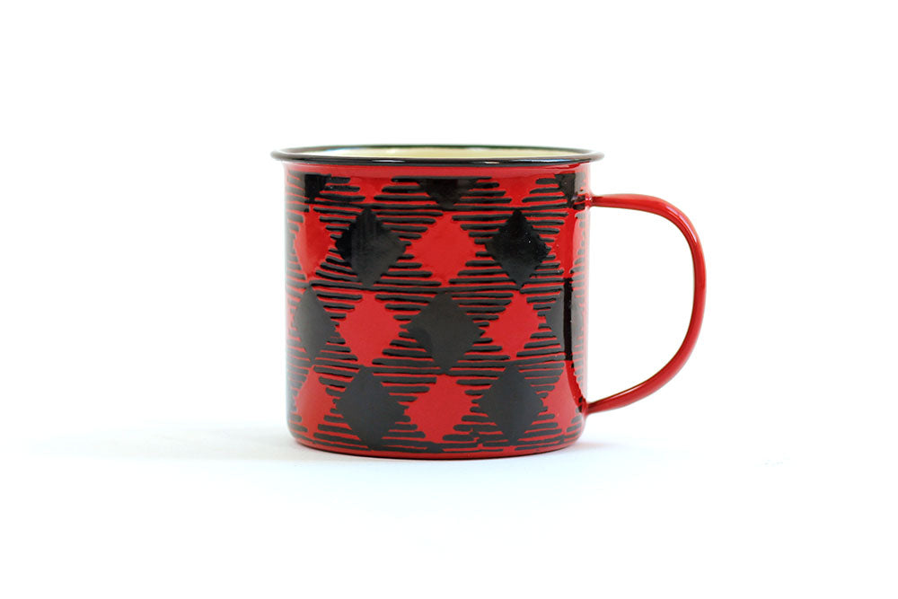 One Canoe Two - Red Buffalo Plaid Mug
