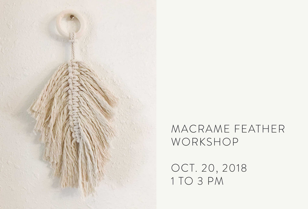 Macrame Feather Workshop