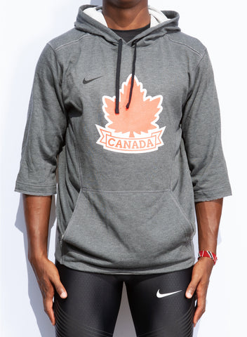 Men's Vintage Athletics Canada Nike Flux 3/4 Sleeve Hoodie