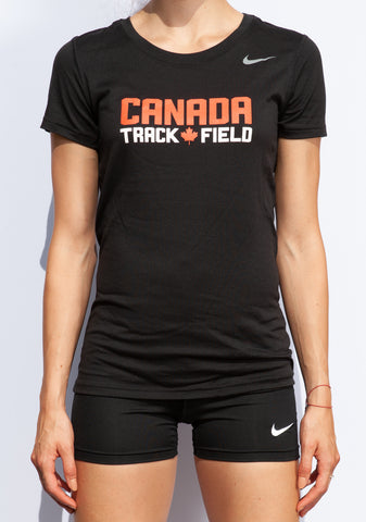 Women's Canada Track & Field Nike Team Legend Short Sleeve Tee