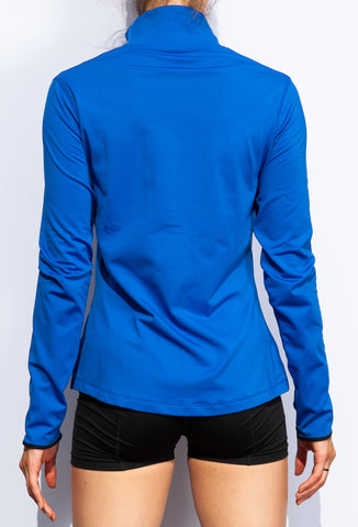 Nike Women's Dri-FIT Half Zip Royal Blue