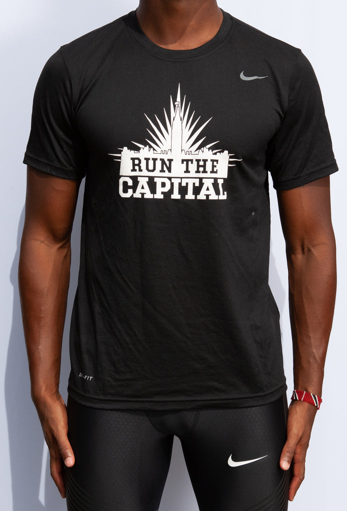 Men's #RunTheCapital Nike Team Legend Short Sleeve Crew