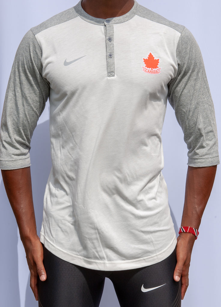 Men's Vintage Athletics Canada Nike Flux Henley