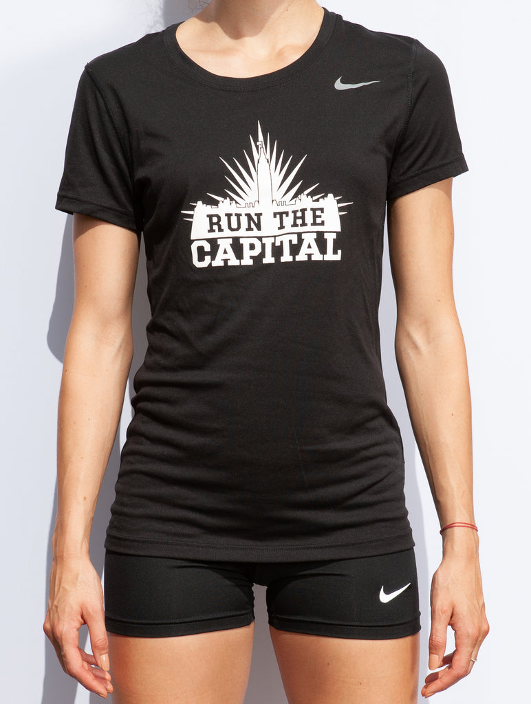 Women's #RunTheCapital Nike Team Legend Short Sleeve Tee
