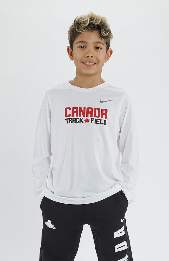 Youth Nike Canada Track & Field Legend Long Sleeve