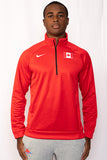 Men's Nike Canada Track & Field Therma 1/4 Zip Top