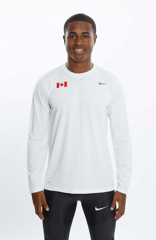 Men's Nike Legend Team Canada Long-Sleeve Tee