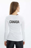 Women's Nike Legend Team Canada Long-Sleeve Tee