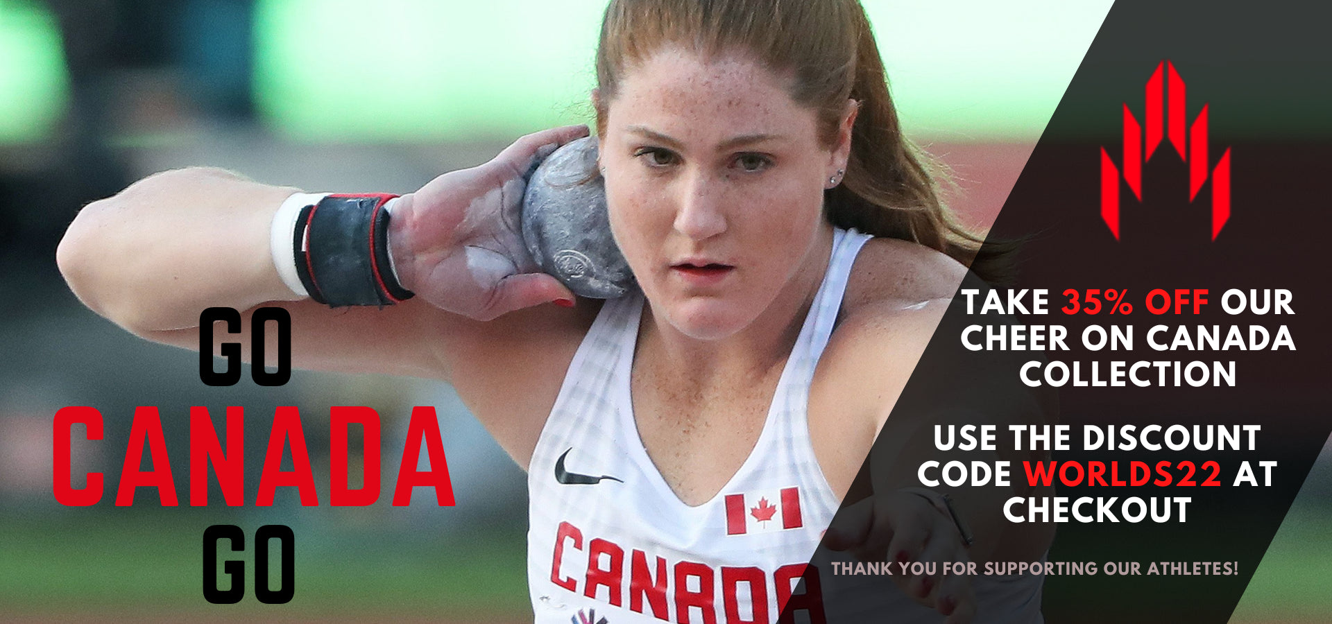 Canada track and field apparel