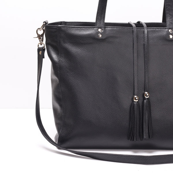 Feature: Convertible Tassel Tote