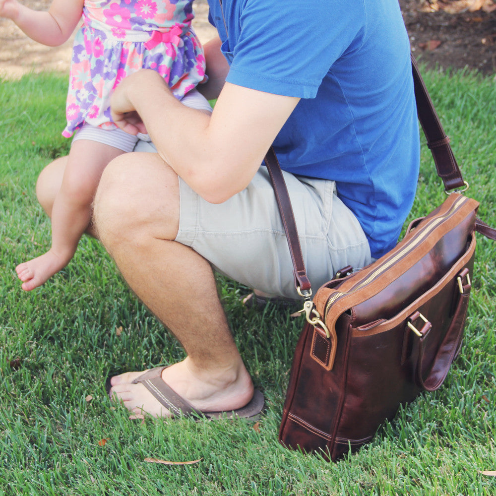 Dad Bag vs. the Diaper Bag