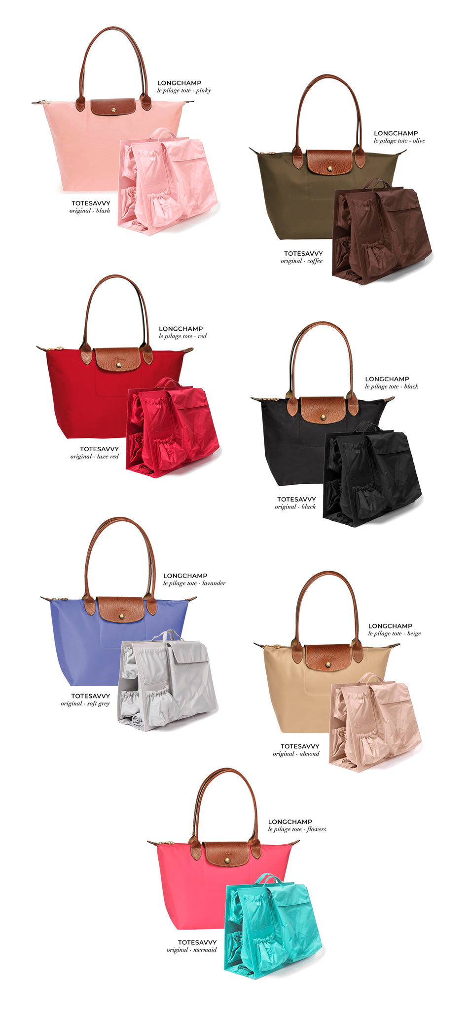 What color ToteSavvy is best for your Longchamp tote  8a49c32696e01