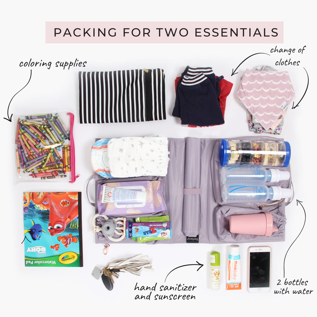 diaper bag packing essentials for two