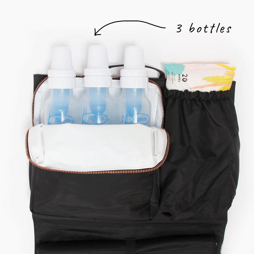 bottles in cooler pocket diaper bag