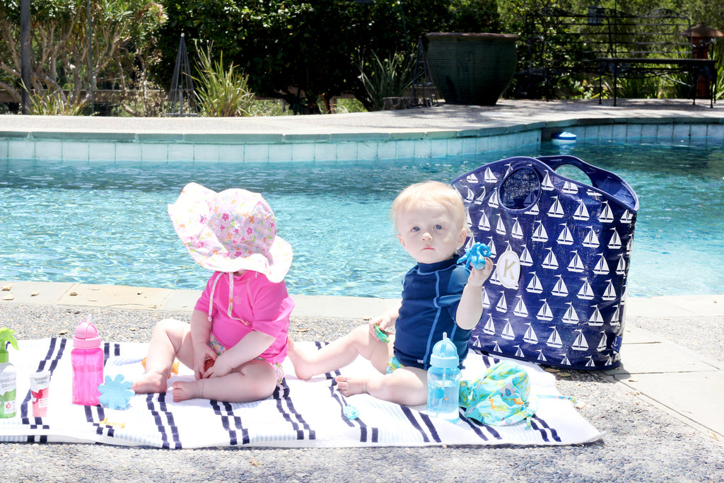 taking babies to the pool